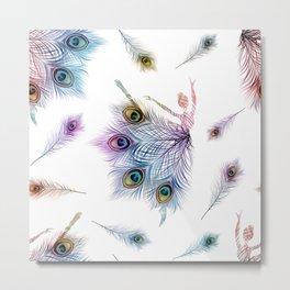 Peacock Dancer Metal Print