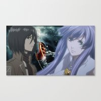 mikasa Canvas Prints featuring anime fanart 1 by dxdart