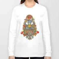 egypt Long Sleeve T-shirts featuring Egypt - painting by oxana zaika