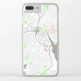 Providence Map Poster Clear iPhone Case