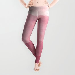 Ombre Waves in Pink Leggings