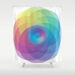 Spiral Rose Shower Curtain