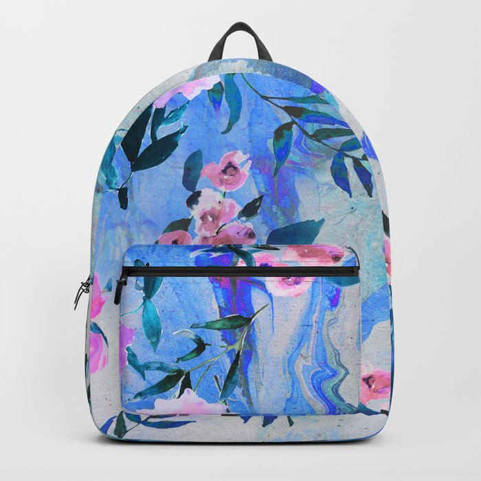 Floral Marble Swirl Backpack