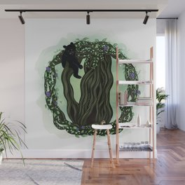 Animal Tree House Wall Mural