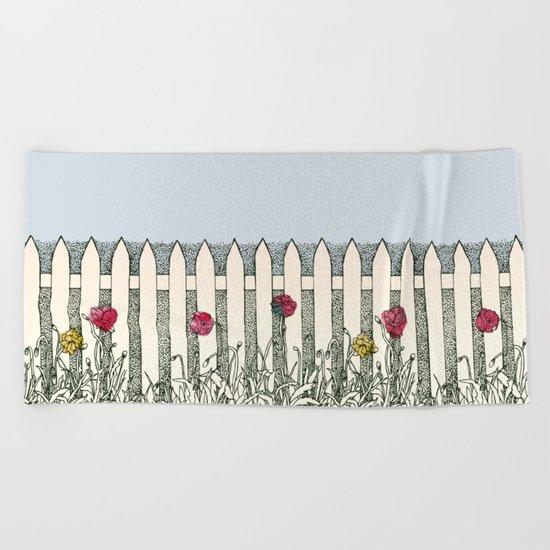 Where the Roses Grow Beach Towel