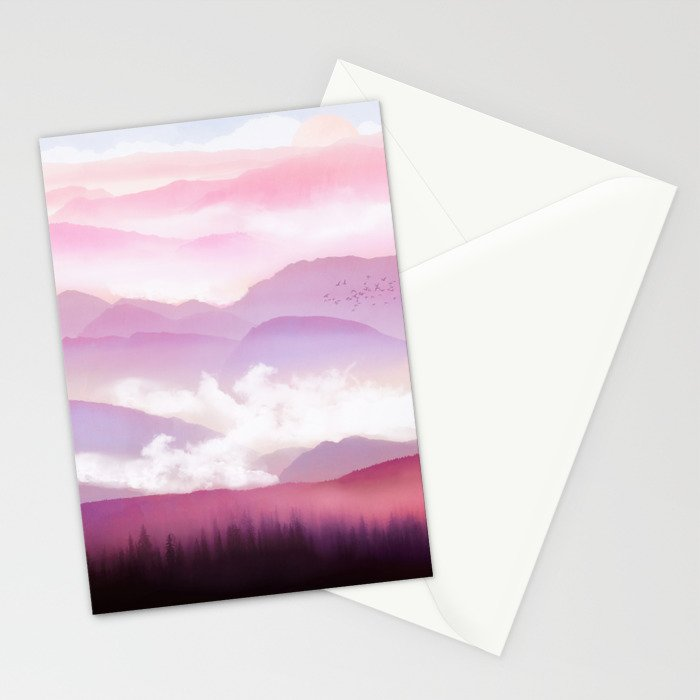 Candy Floss Mist Stationery Cards