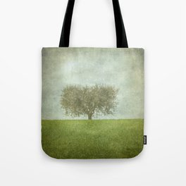 The Lone Olive Tree Tote Bag