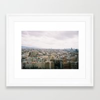 barcelona Framed Art Prints featuring Barcelona by lisk