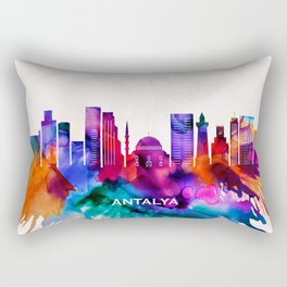 Antalya Skyline Rectangular Pillow