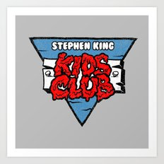 Stephen King Kids Club Art Print