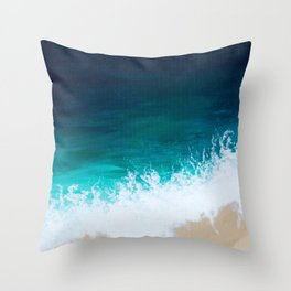 Sea Below Throw Pillow