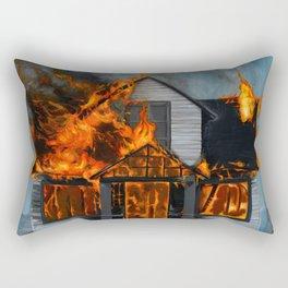 House on Fire Rectangular Pillow