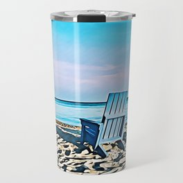 Join Me On The Beach, Won't You? Travel Mug