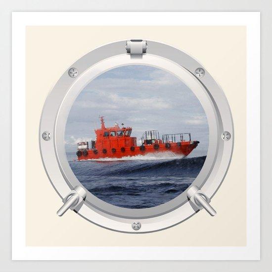 Port Hole View Art Print