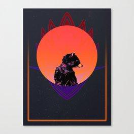 Rocket Raccoon 80's Character Poster Canvas Print