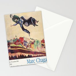marc chagall retrospective de vintage Poster Stationery Cards
