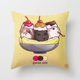 Guinea Split Throw Pillow