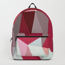 Abstract Polygons Red Backpack