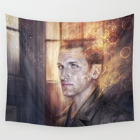 doctor Wall Tapestries featuring Ninth Doctor by jasric