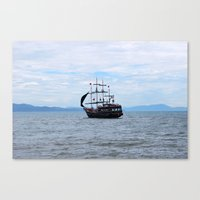 pirate Canvas Prints featuring Pirate by Caio Trindade