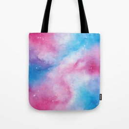 Cotton Candy Galaxy Tote Bag