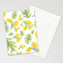 Australian Wattle Flower Pattern Stationery Cards