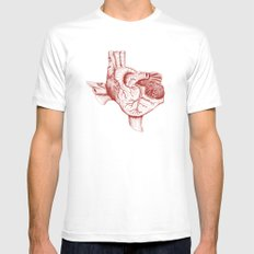 The Heart of Texas (Tech) White 2X-LARGE Mens Fitted Tee