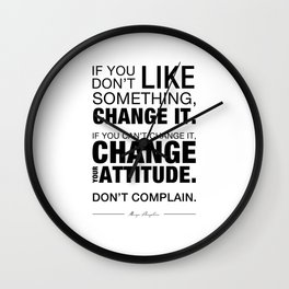 Angelou Attitude Wall Clock