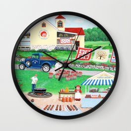 Aunt Abby's Apples Wall Clock