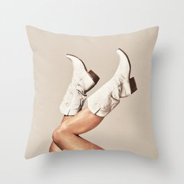 These Boots - Neutral Throw Pillow
