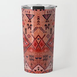 N52 - Pink & Orange Antique Oriental Traditional Moroccan Style Artwork Travel Mug