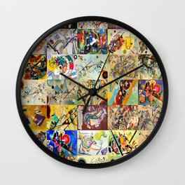 Wassily Kandinsky Montage Wall Clock