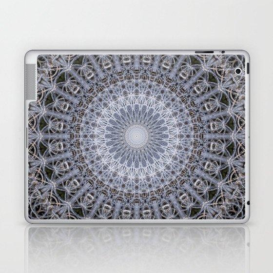 Detailed mandala in grey tones Laptop & iPad Skin