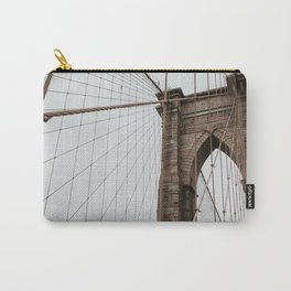 Brooklyn Bridge close up | Colourful Travel Photography | New York City, America (USA) Carry-All Pouch