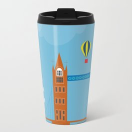London, England - Collage Illustration by Loose Petals Travel Mug