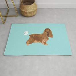 cocker spaniel funny farting dog breed gifts Rug