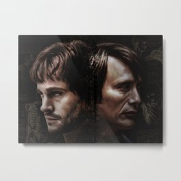 Hannibal Lecter and Will Graham - Anatomy of Insanity Metal Print