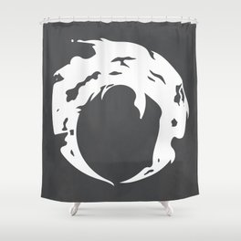 A glint of light Shower Curtain