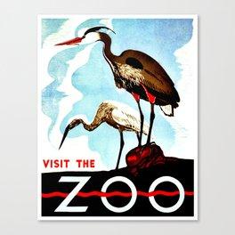 Visit the Zoo, herons Canvas Print