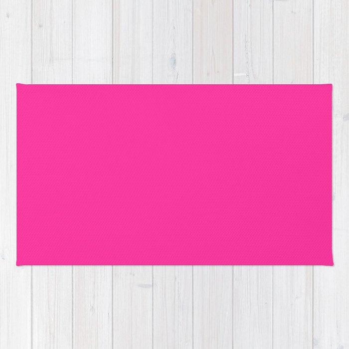 Fluorescent Pink Neon Rug