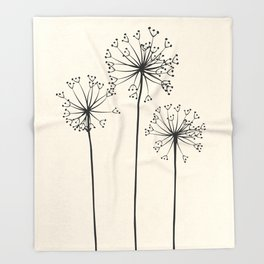 Dandelions Throw Blanket