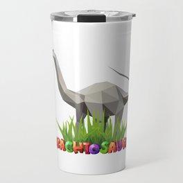 Geometric  Dinosaur Travel Mug