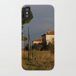 Sunny countryside in Italy iPhone Case