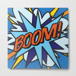 Comic Book BOOM! Metal Print