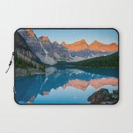 Canadian Rockies Reflection Sunrise Moraine Lake Banff National Park Canada Mountains Landscape Laptop Sleeve