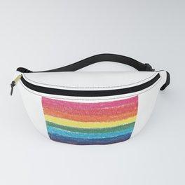 LGBTQ+ Pride Flag Crosshatch Design Fanny Pack