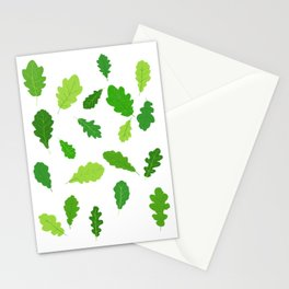 Oak Leaves Stationery Cards