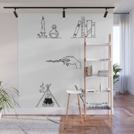 Witch Halloween Themed Design Wall Mural