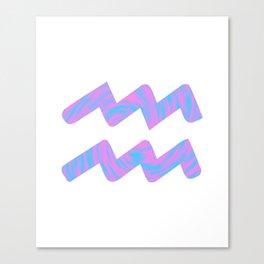 Liquid Aquarius Zodiac Sign Canvas Print