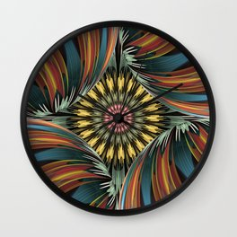 Peeping in, artistic floral design Wall Clock
